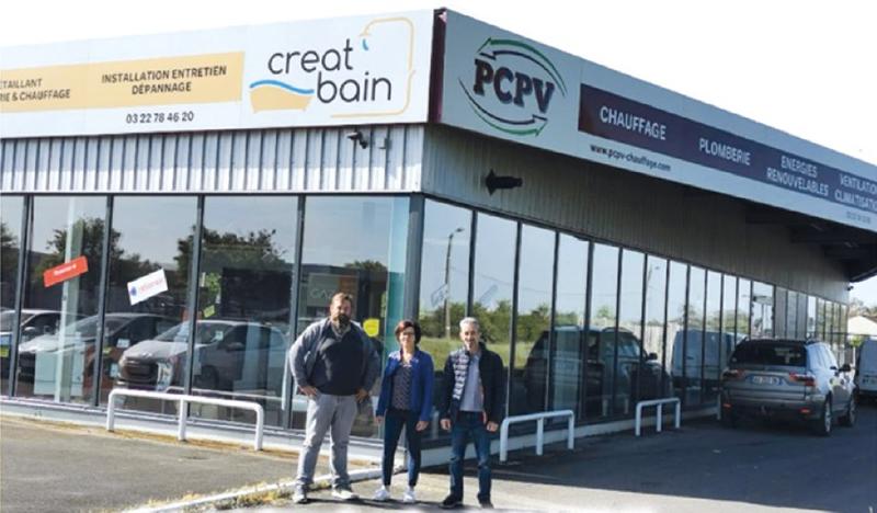 Olivier est devenu gérant de la société de plomberie PCPV située à Ham