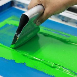 technique d'application de peinture en sérigraphie