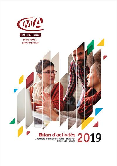 couverture du bilan d'activités 2019 de la cma hauts-de-france