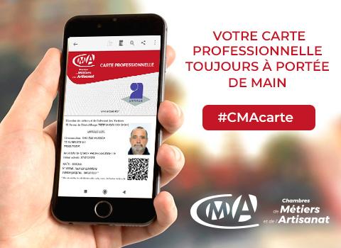 La carte professionnelle de la CMA