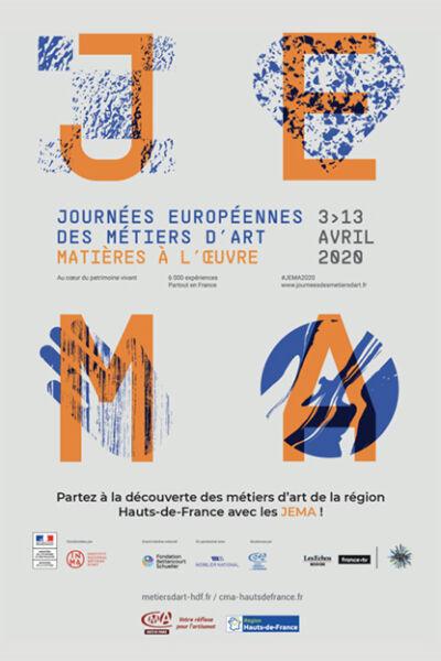 Affiche des Journées européennes de métiers d'art