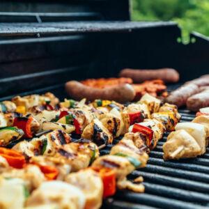 viande sur un barbecue