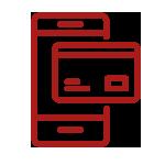 logo de carte bleue et téléphone