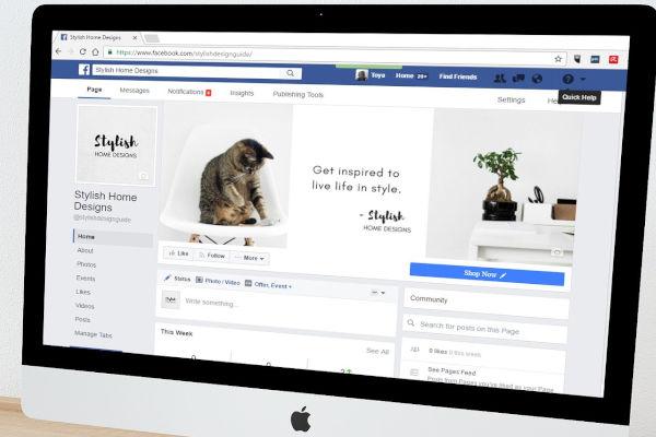 page facebook sur ordinateur