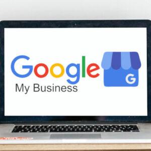 logo google my business sur écran de pc