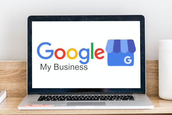 logo google my business sur écran de pc