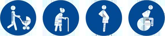 logos pour l'accessibilite des batiments publics