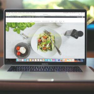 site internet sur ordinateur