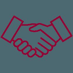 pictogramme partenaire serrent la main