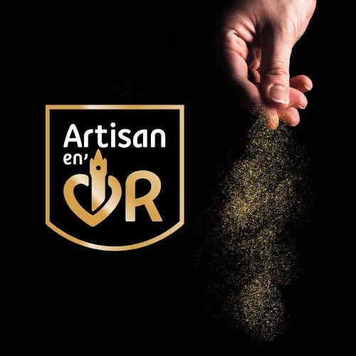 logo artisan en or