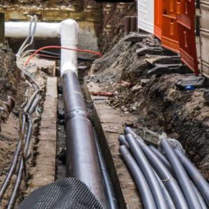 réseaux de tuyaux souterrains