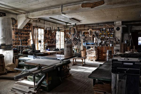 vue d'un atelier d'artisan