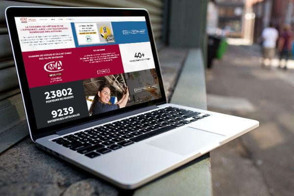 site de la cma sur écran de pc