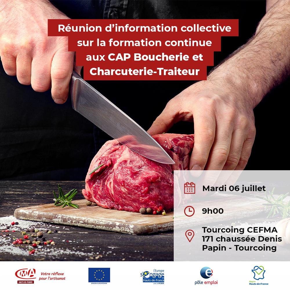 flyer réunion d'informations CAP boucherie-charcuterie-traiteur