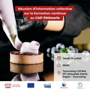 flyer réunion d'informations CAP pâtisserie