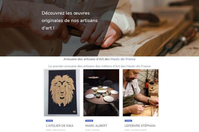 capture écran annuaire métiers d'art