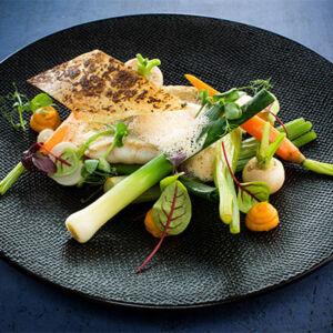 photo de plat gastronomique à base de poisson