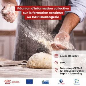 Flyer réunion d'information CAP boulanger
