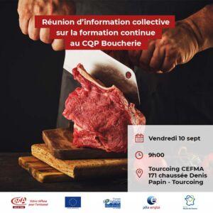 Flyer réunion d'information sur la formation CQP Boucher